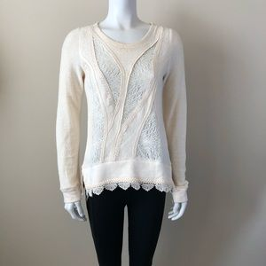 Anthro Angel of the North Cream Sweater